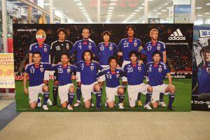 サッカー日本代表2010の顔出しパネル