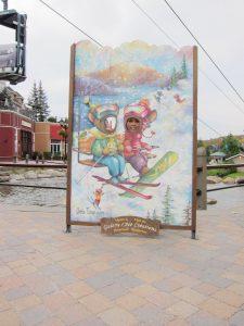 Ski resort comic foreground