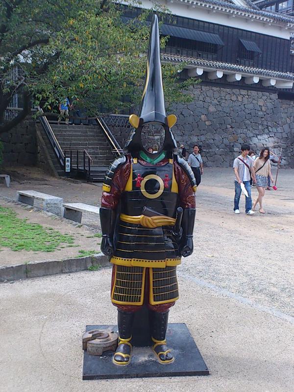 加藤清正の鎧一式の顔出しパネル