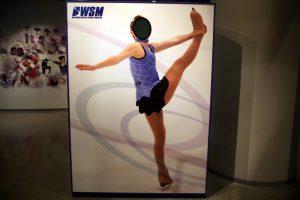フィギアスケートの顔出しパネル