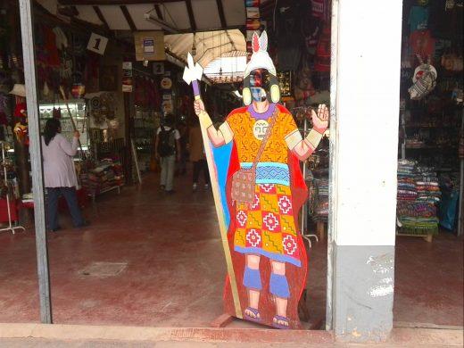 ペルー原住民衣装の顔ハメ看板