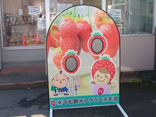 イチゴ狩り顔ハメパネル
