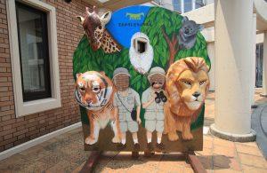 天王寺動物園の顔はめパネル